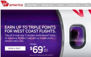 Virgin America $69 Fares