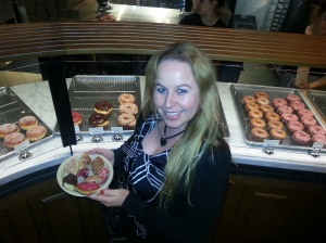 Dani with the moist yummy sidecar doughnuts