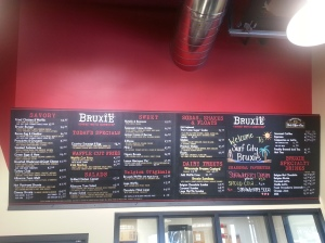 Menu at Bruxie HB