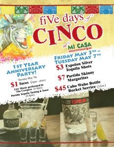 Cinco De Mayo Flyer for Mi Casa RSM