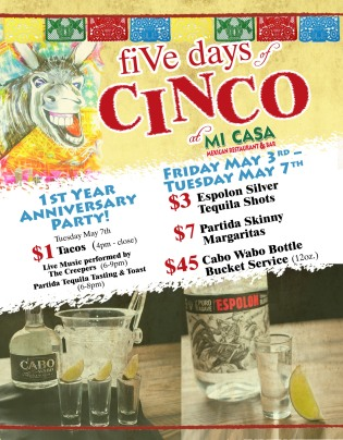Cinco De Mayo Flyer for Mi Casa RSM