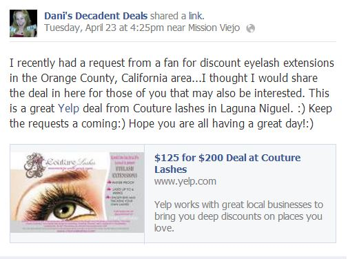 Eyelash Extensions Yelp Deal Laguna Niguel