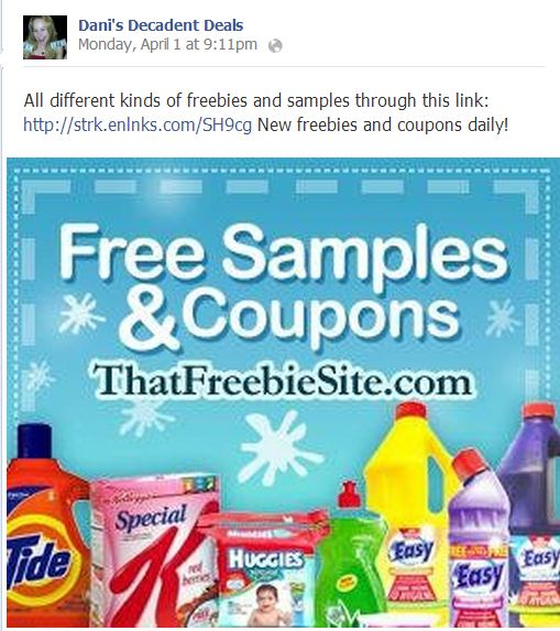 Free Samples and coupons link