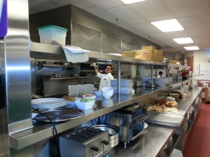 Inside the kitchen!