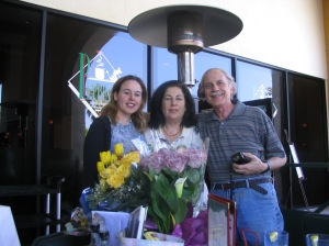 Me, mom & dad on Mother's Day