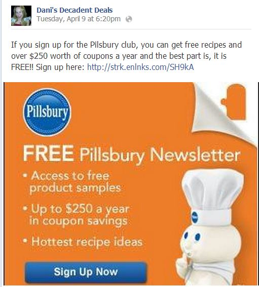 Pilsbury coupons and recipes
