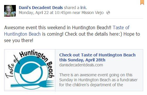 Taste of HB - Sunday, April 28th - get tickets now
