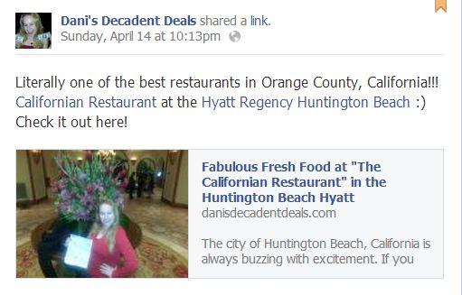 The Caifornian @ Hyatt HB - Fab Restaurant!!