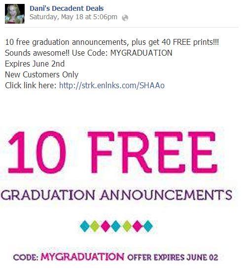 10 FREE Graduation Announcements