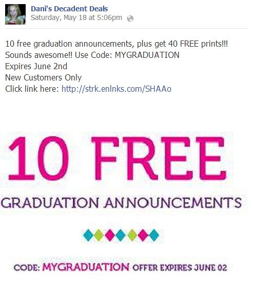 10 FREE Graduation Announcements