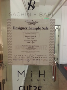 Designer Sample Sale Sign