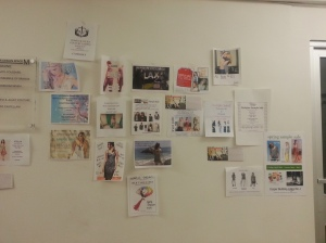 Future sample sale advertisements on the walls of the Cooper Space Building