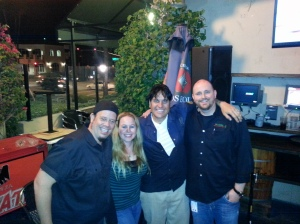 The Creepers, Me, and Chef/Owner Ryan Moore