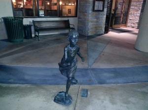 Statue for Decor Outside of Restaurant