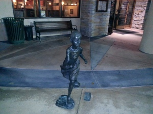 Statue for Decor Outside of Restaurant