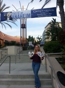 """Arriving at Taste of Anaheim with my """"taste men"""""""