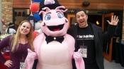 Dani & husband, Tom with Bubba Gump Shrimp