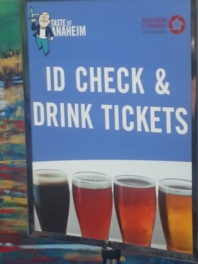 ID Check & Drink Tickets run by retired Officers