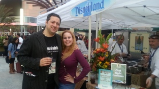 My love & I meeting chefs from Disneyland..One of our fave places to go!