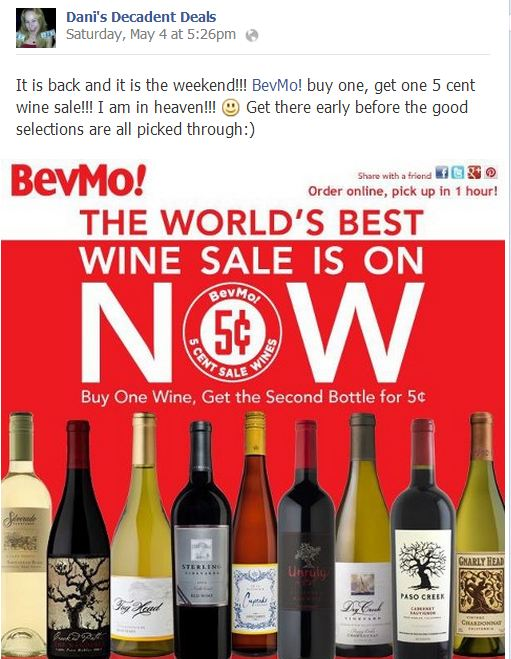 5 cent wine sale from BEVmo is back