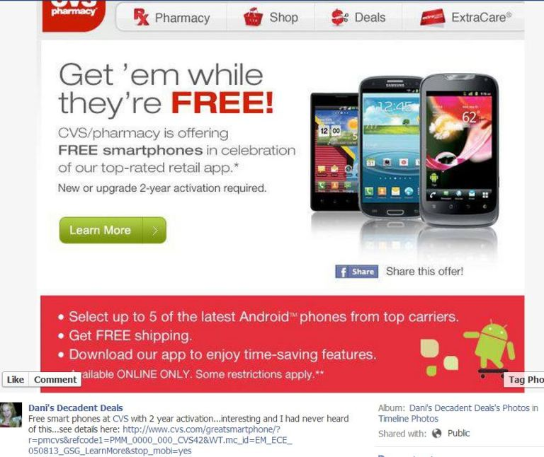 CVS - Smart Phones FREE