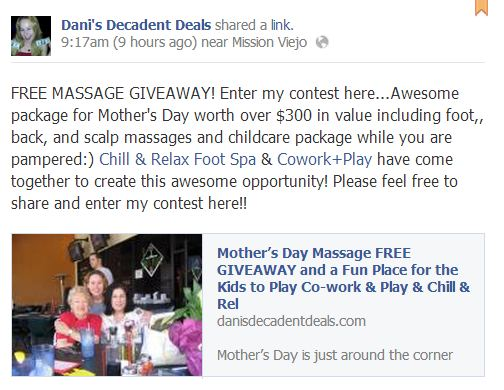 FREE MASSAGE GIVEAWAY - Chill & Relax Spa - Co Work &  Play