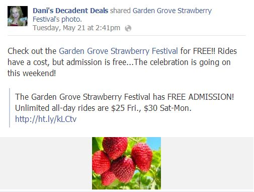 Garden Grove Strawberry Festival FREE admission