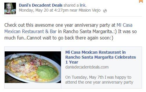 Mi Casa Mexican Restaurant - RSM - 1 year anniversary
