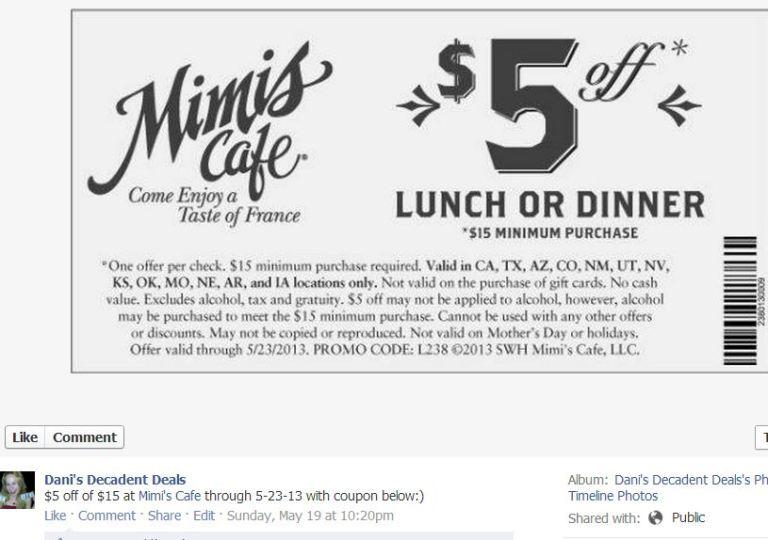 Mimi's Cafe $5 off - 5-23-13