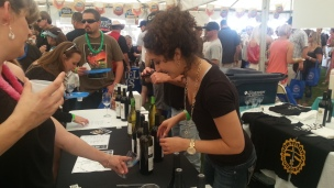 Pouring Wine at Taste of HB