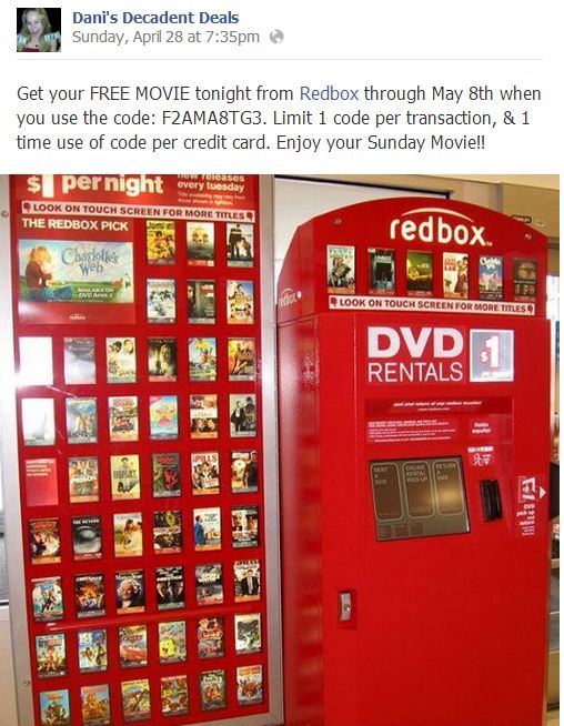 Red Box Free Movie Code through May 8-2103