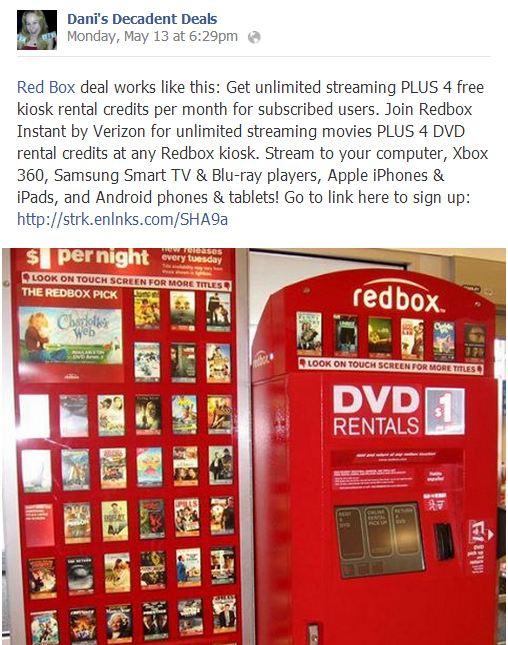 Red Box Movie Subscription with LOTS of FREEBIES
