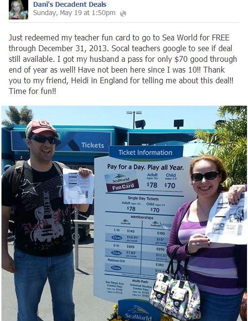 Sea World Fun Card $78 adults $70 kids - Unlimited visits thru 12-31-13
