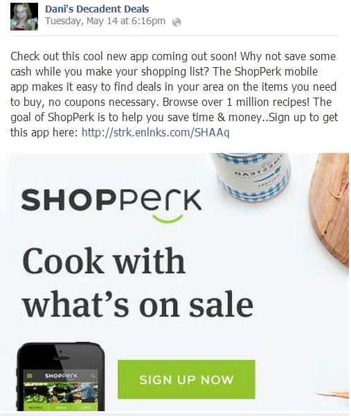 ShopPerk Application - Cook With What is on Sale