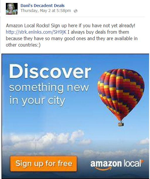 Sign up for Amazon Local Now!