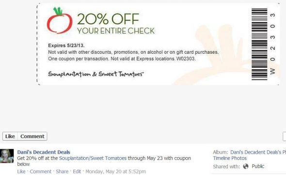 Souplantation - 20% off thru 5-23-13