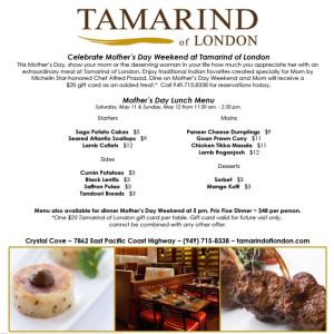 Tamarind of London Crystal Cove Mother's Day Special