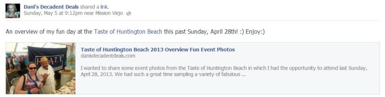 Taste of HB was a Blast! See pictures here