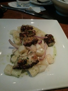 Polipo Alla Grigilia - Grilled Octopus, Potatoes, Red Onion, and Organic Olive Oil