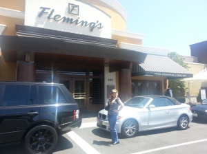 Dani in Front of Fleming's Prime Steakhouse