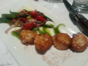New Bedford Scallops with veggies