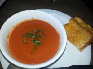 Twice Grilled Cheese Sandwich With Tomato Soup