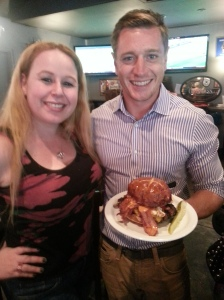"Dani & Scott Slater with the New ""Merica Burger!"