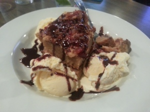 Bacon Blondie With Vanilla Ice Cream