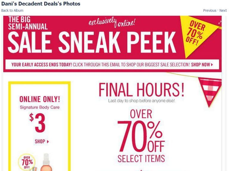 Bath And Body Works Semi Annual Sale