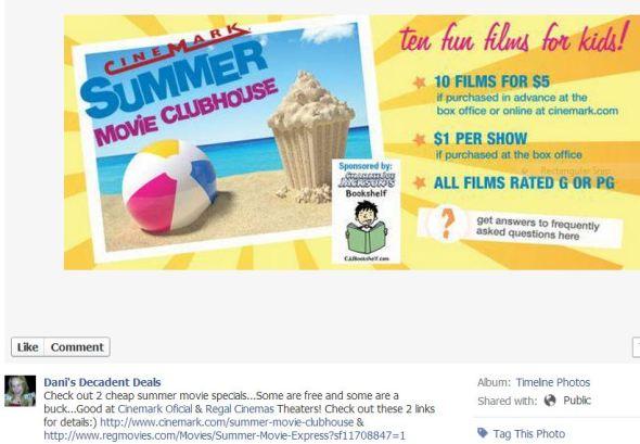 Cheap Summer Movie Deals