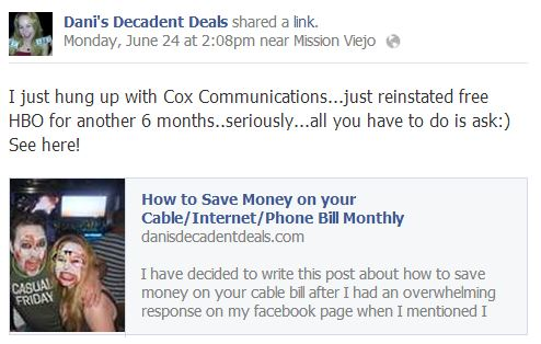 Cox Cable Saving Money