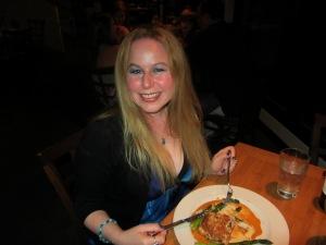 Dani at Roy's Restaurant in Hawaii Celebrating 7 year anniversary