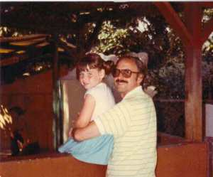 Dani and her dad 1983