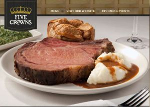Five Crowns Special Fathers Day Menu